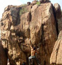 bouldering in